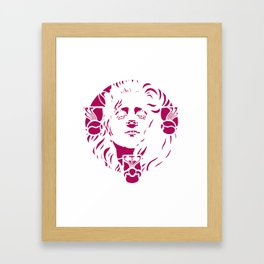 """Koloman Moser """"Head of a woman"""" (pink) Framed Art Print"""