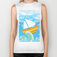 sail Biker Tanks featuring Sail by Lany Nguyen