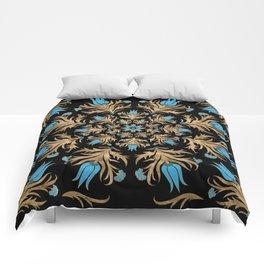 Turkish tulip - Ottoman tile 4 Comforters