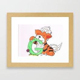 G is for Growlithe Framed Art Print