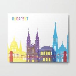 Budapest skyline pop Metal Print