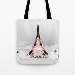 pariS Black & White + Pink Tote Bag