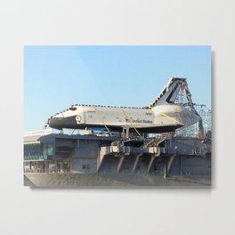 Space Shuttle Enterprise, Intrepid Aircraft Carrier, New York City Metal Print
