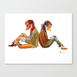 Masks Canvas Print