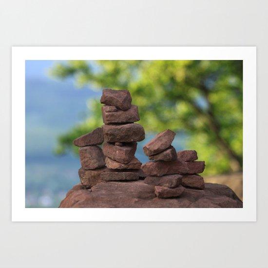 Zen  - JUSTART © Art Print