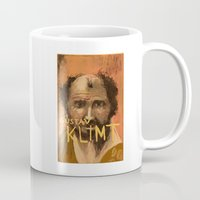 gustav klimt Mugs featuring 50 Artists: Gustav Klimt by Chad Beroth