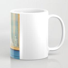 Beach Hut window- orange Coffee Mug