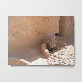 Guide at Deir al-Anba Sama'an in Aswan, Egypt (2005a) Metal Print