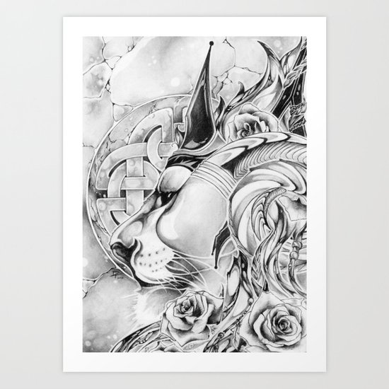 King of Roses Art Print