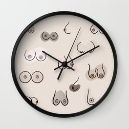 pink freedom Wall Clock