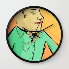 Becoming One With The Sun Wall Clock