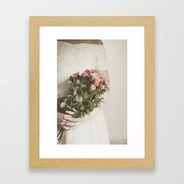 Bouquet Of Roses Framed Art Print