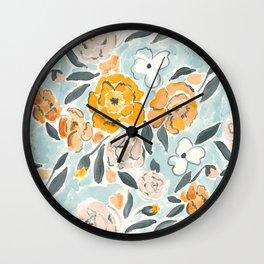 Watercolor Sketch Floral Wall Clock