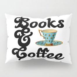Books & Coffee Pillow Sham