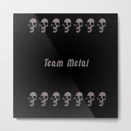 tmskull Metal Print