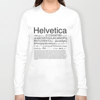 helvetica Long Sleeve T-shirts featuring Helvetica (Black) by Zuno
