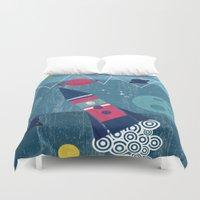 spaceship Duvet Covers featuring Spaceship by Kakel