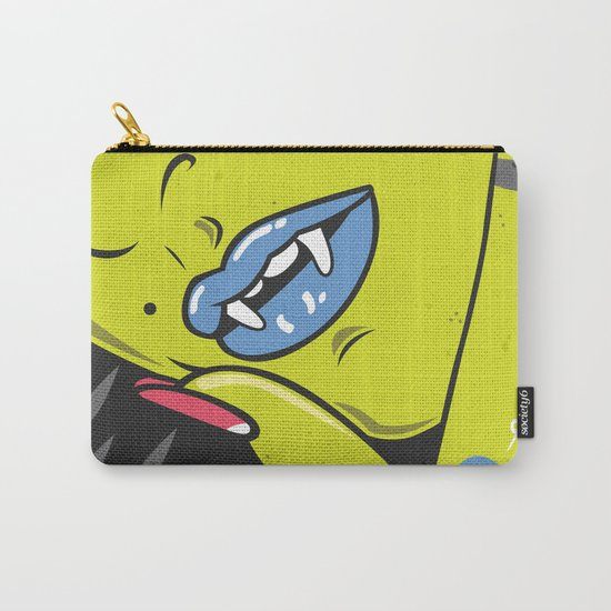 Vamp girl face Carry-All Pouch