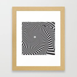 Abstract background with optical effect Framed Art Print