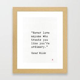 Oscar Wilde quote 50 Framed Art Print