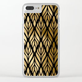Havana Sultry Night Gold and Black Art Deco Clear iPhone Case