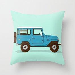 Toyota Landcruiser FJ40 Illustration Throw Pillow
