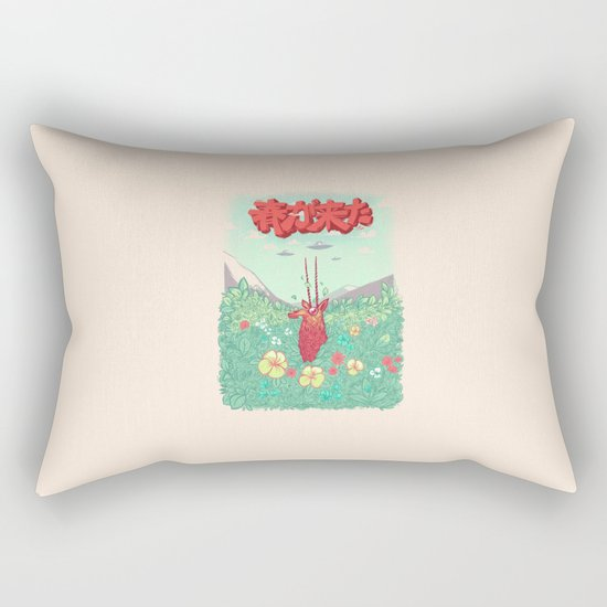 Invasion of spring Rectangular Pillow
