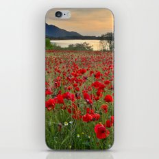 Field of poppies in the lake iPhone & iPod Skin