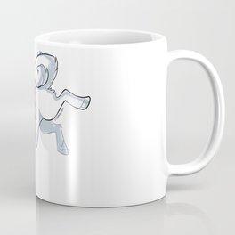 White Husky Running Coffee Mug