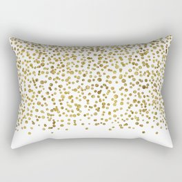 Gold Confetti Sparkle and Shine Rectangular Pillow