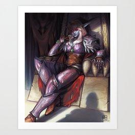 Warchief Sylvanas Art Print