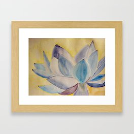 Blue lotus flower Framed Art Print