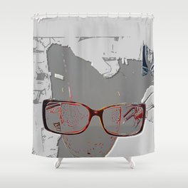 series drink - Sketch drink Shower Curtain