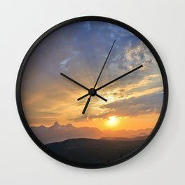 Beartooth Highway Wall Clock