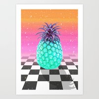 pineapple Art Prints featuring Pineapple by Danny Ivan
