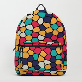 Colorful Abstract Mosaic Pattern Backpack