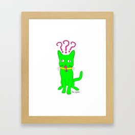 """Heckin Confused Derp Cat"", by Brock Springstead Framed Art Print"