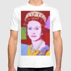Lego: Queen Elizabeth II White MEDIUM Mens Fitted Tee
