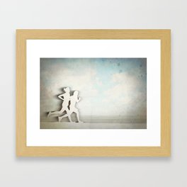 Runners Framed Art Print
