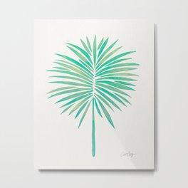 Tropical Fan Palm – Mint Palette Metal Print
