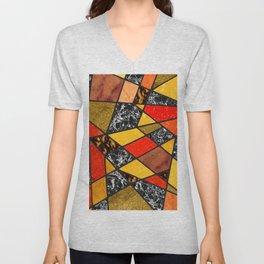 Abstract #487 Unisex V-Neck