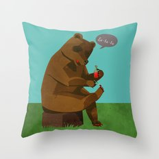 Mrs. Bear Throw Pillow