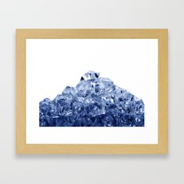 Mountain made of crushed ice, isolated on white background Framed Art Print