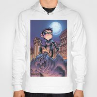 nightwing Hoodies featuring Lil' Nightwing by J Skipper