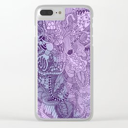 The Underbrush Purple Clear iPhone Case