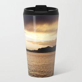 sun setting over vacation Travel Mug