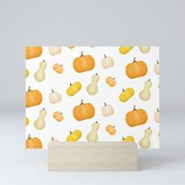 Pumpkins & Squash Pattern Mini Art Print