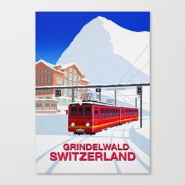 Grindelwald Ski Poster Canvas Print