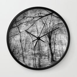 The Ghostly Forest Wall Clock