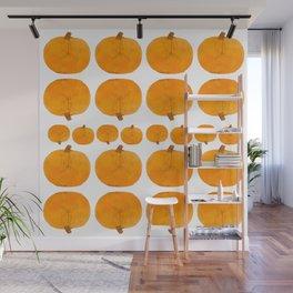 Pumpkin Pattern | Rustic Wall Mural